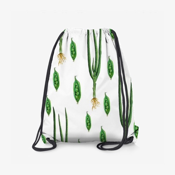 Рюкзак «Акварельные зеленые овощи»