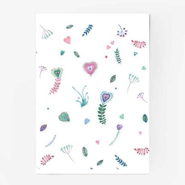 Постер «Веточки-сердечки»