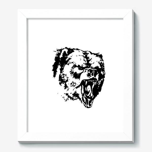 Картина «Принт медведь в ярости»