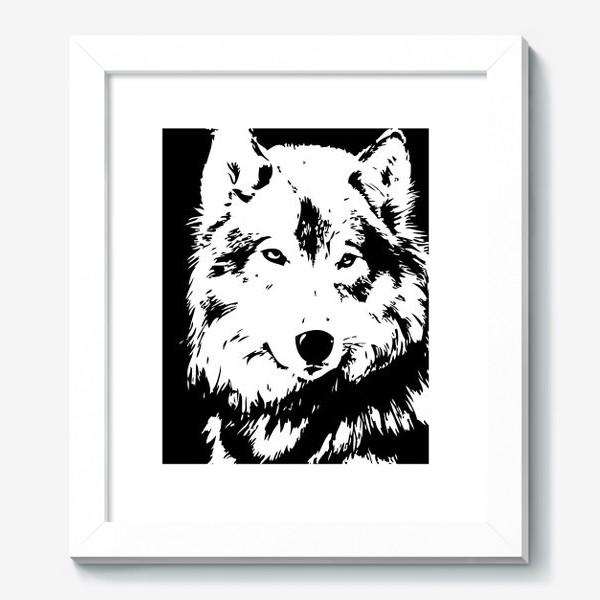 Картина «Принт волк»