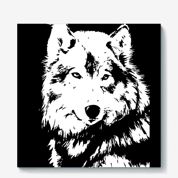 Холст «Принт волк»