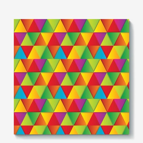Холст «Яркие треугольники»