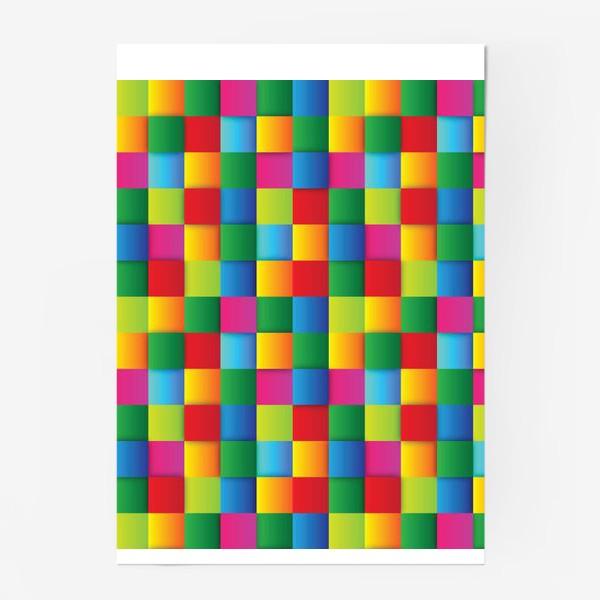 Постер «Яркие квадраты»