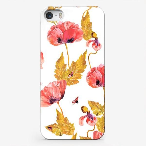 Чехол iPhone «Полевые маки и божья коровка\Maquis»
