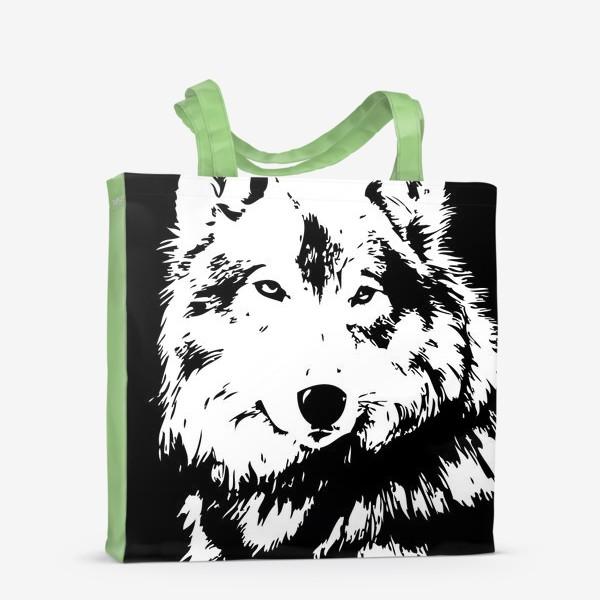Сумка-шоппер «Принт волк»
