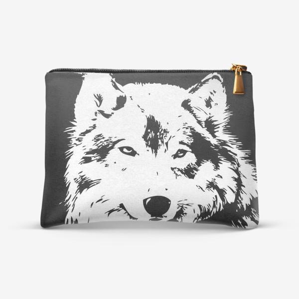 Косметичка «Принт волк»