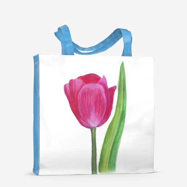Сумка-шоппер «розовый тюльпан»