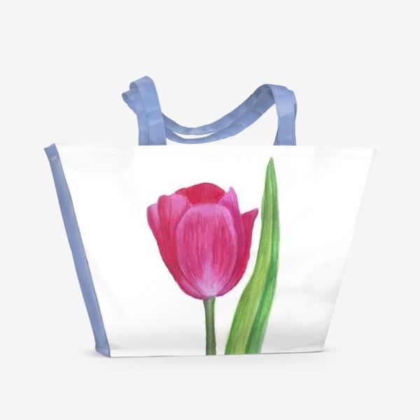 Пляжная сумка «розовый тюльпан»