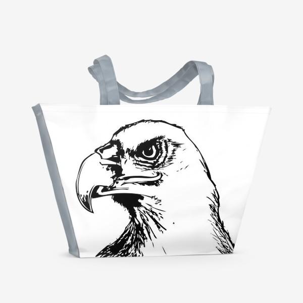 Пляжная сумка «Паттерн орел»