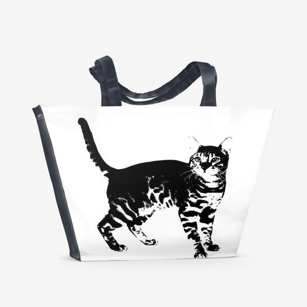 Пляжная сумка «Принт кошка»