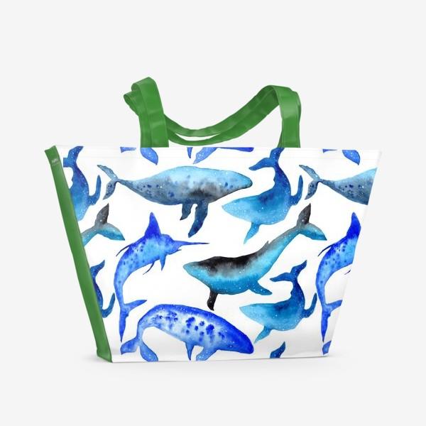 Пляжная сумка «Киты »