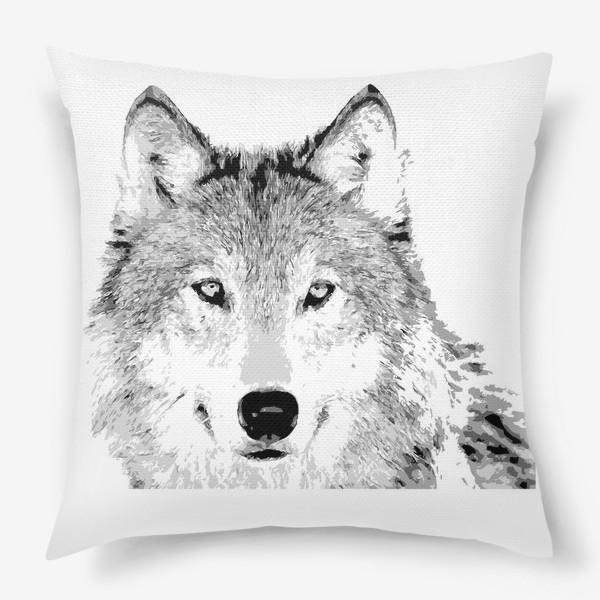 Подушка «Паттерн Волк»
