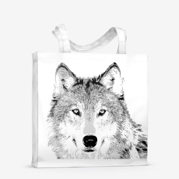 Сумка-шоппер «Паттерн Волк»