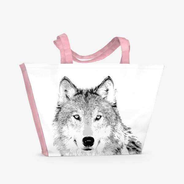 Пляжная сумка «Паттерн Волк»
