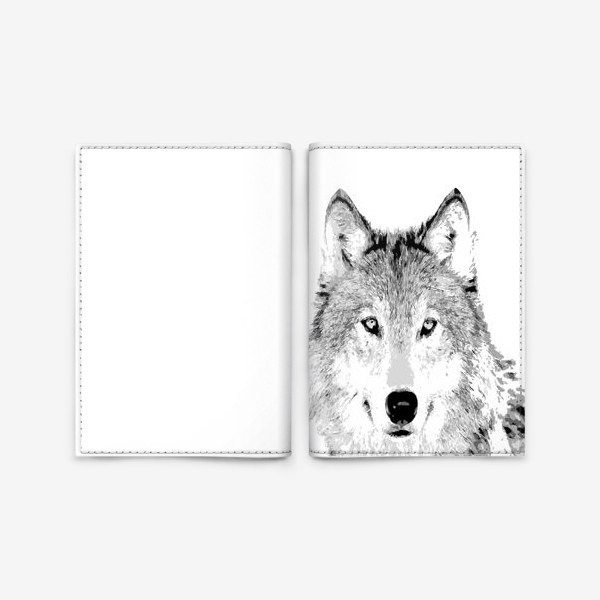 Обложка для паспорта «Паттерн Волк»