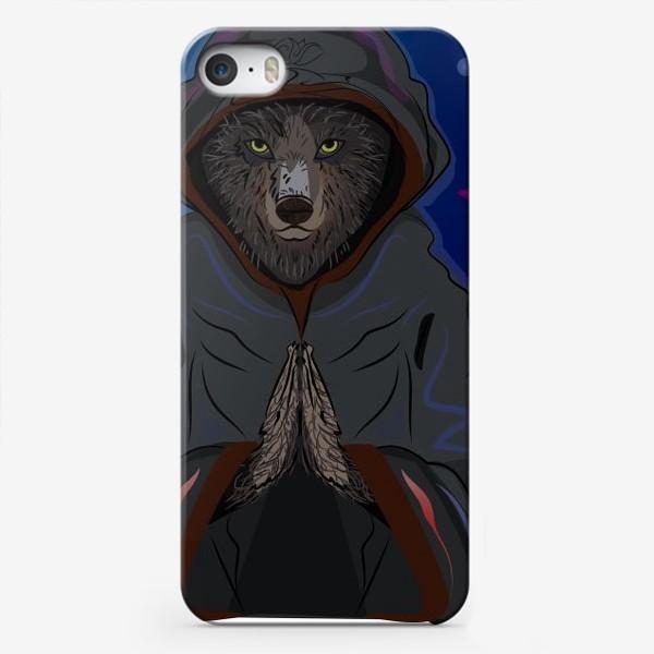 Чехол iPhone «Волк-отшельник»