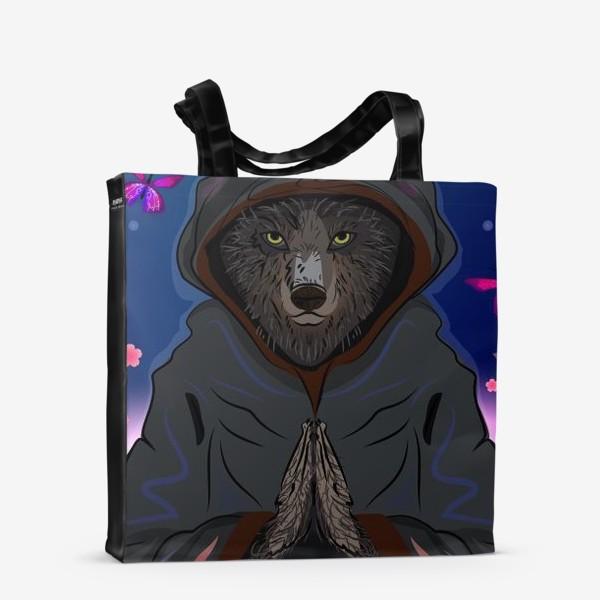 Сумка-шоппер «Волк-отшельник»
