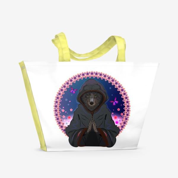 Пляжная сумка «Волк-отшельник»