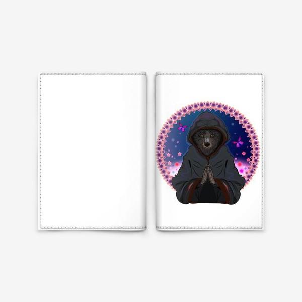 Обложка для паспорта «Волк-отшельник»
