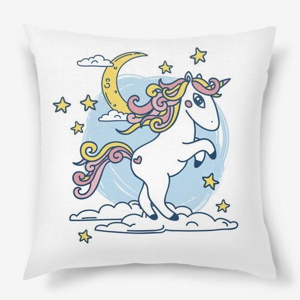 Подушка «Мечтательный единорожек»