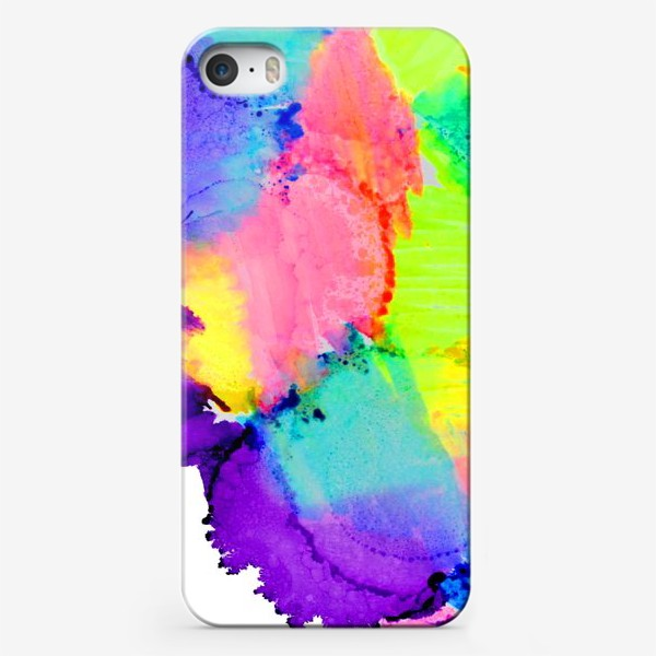 Чехол iPhone «Watercolor Neon Abstract»