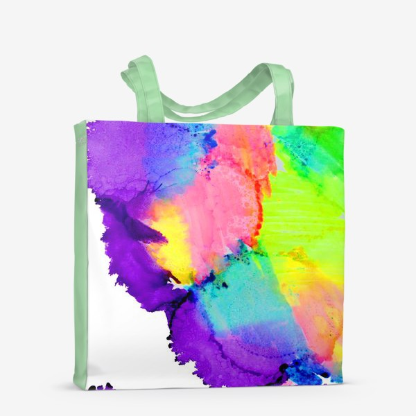 Сумка-шоппер «Watercolor Neon Abstract»