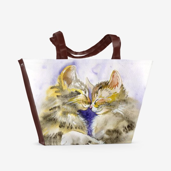 Пляжная сумка «Котообнимашки»