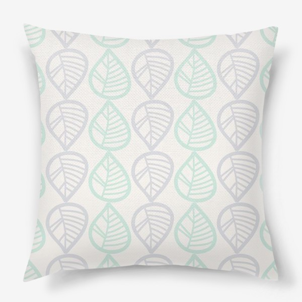 Подушка «Паттерн с листьями»