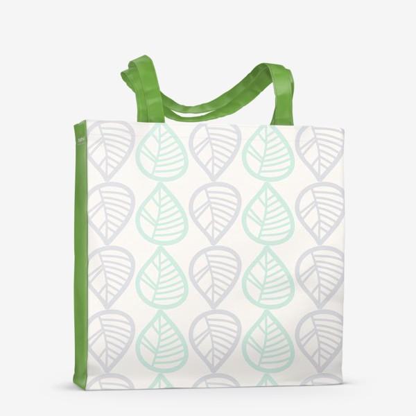 Сумка-шоппер «Паттерн с листьями»