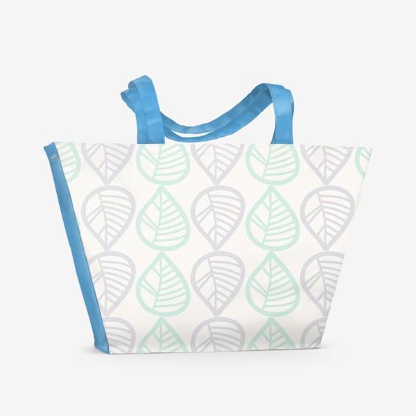 Пляжная сумка «Паттерн с листьями»