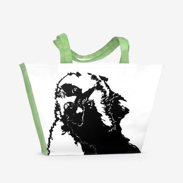 Пляжная сумка «Принт енот»
