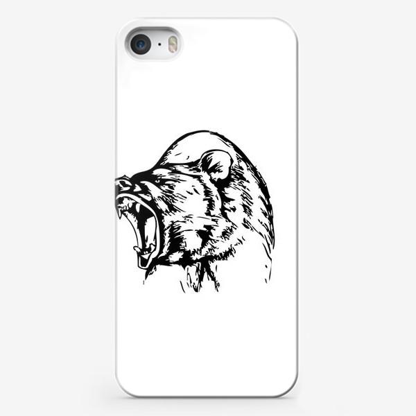 Чехол iPhone «Паттерн Медведь в ярости»