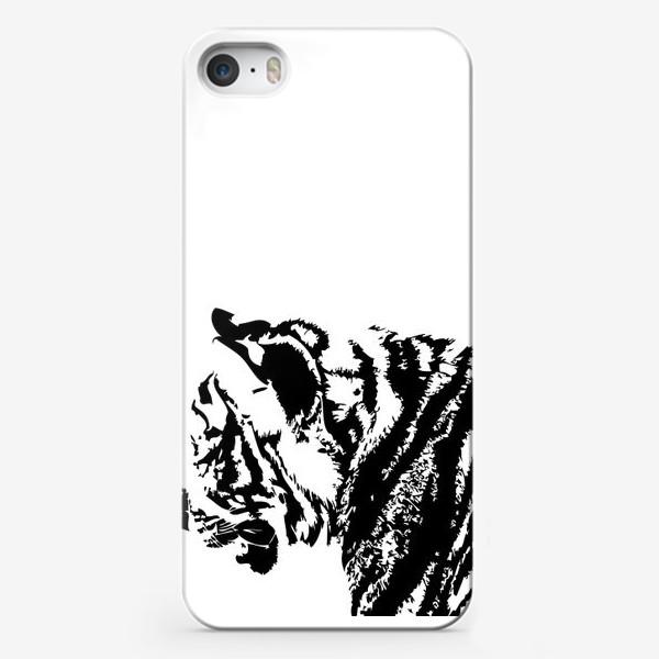Чехол iPhone «Принт тигр в стиле графика»