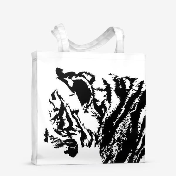 Сумка-шоппер «Принт тигр в стиле графика»