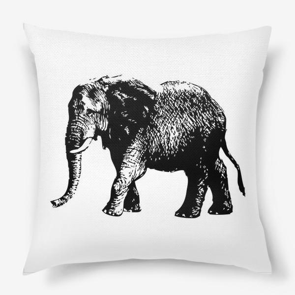Подушка «Принт слон графика»