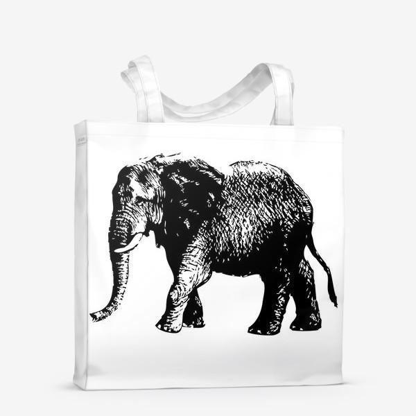 Сумка-шоппер «Принт слон графика»