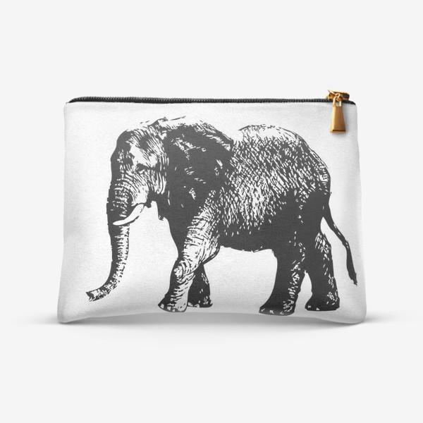 Косметичка «Принт слон графика»