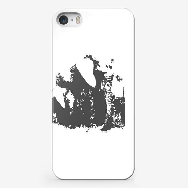 Чехол iPhone «Принт слониха с детенышем»