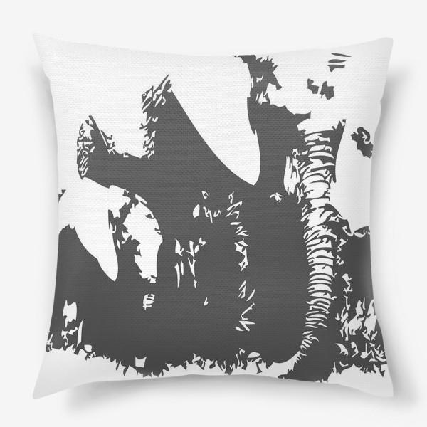 Подушка «Принт слониха с детенышем»
