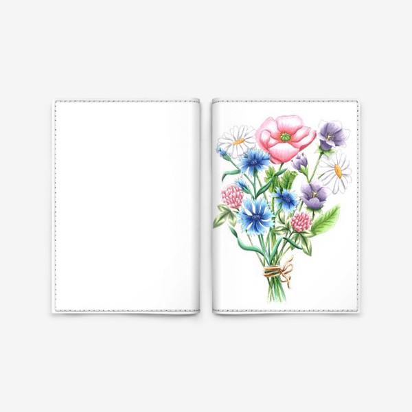 Обложка для паспорта «Букет полевых цветов»