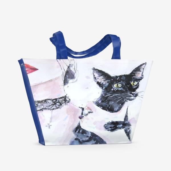 Пляжная сумка «Кошка»