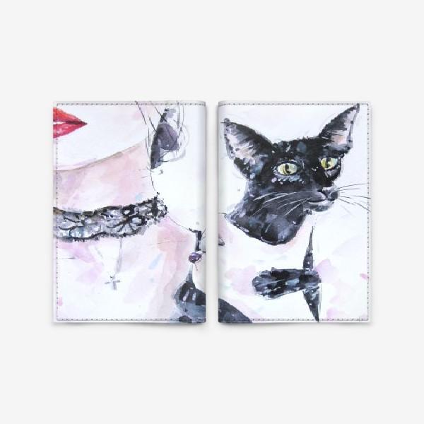 Обложка для паспорта «Кошка»