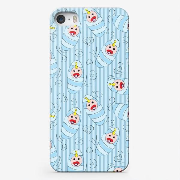 Чехол iPhone «Новорожденные - мальчик»
