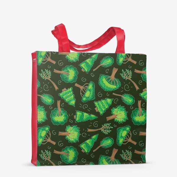 Сумка-шоппер «Лесной паттерн»