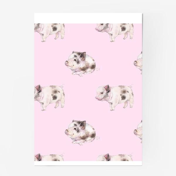 Постер «хрюши розовые»