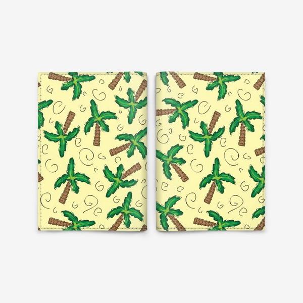 Обложка для паспорта «Пальмы»