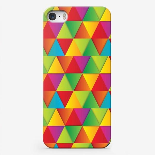 Чехол iPhone «Яркие треугольники»
