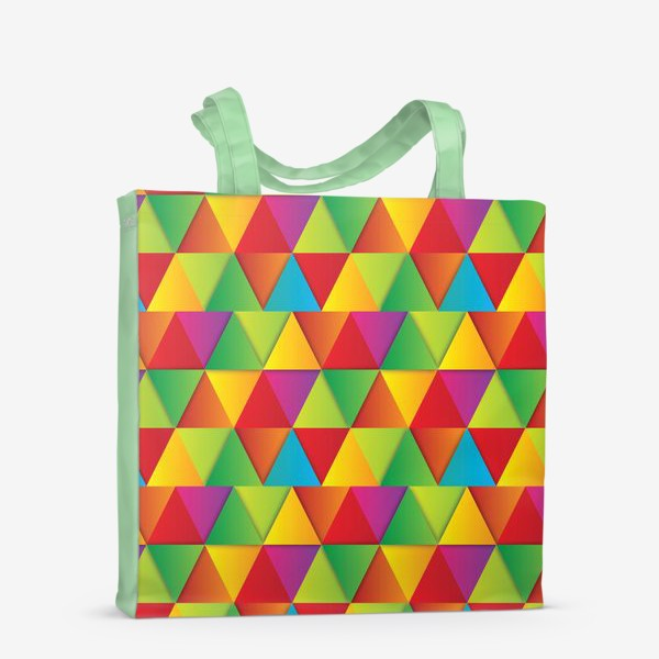 Сумка-шоппер «Яркие треугольники»