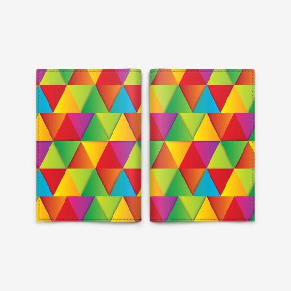 Обложка для паспорта «Яркие треугольники»