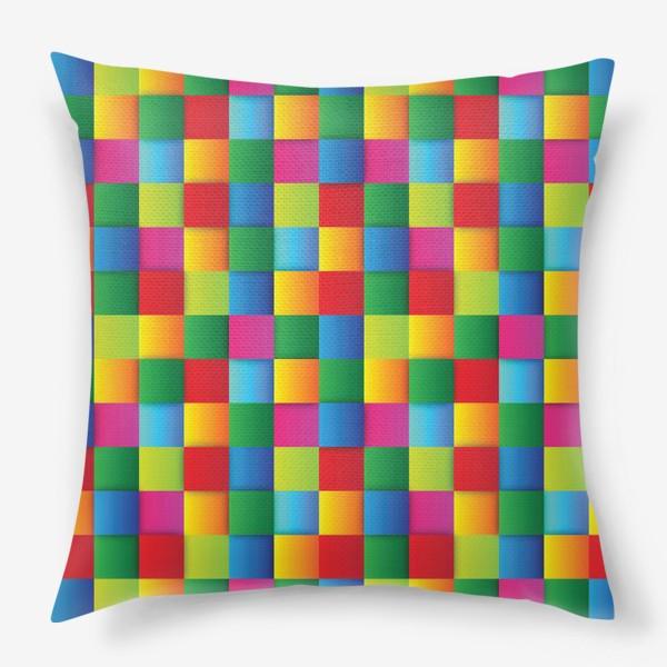 Подушка «Яркие квадраты»